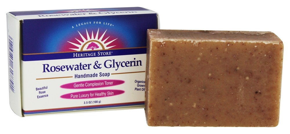 Heritage - Rosewater & Glycerin Handmade Soap - 3.5 oz.