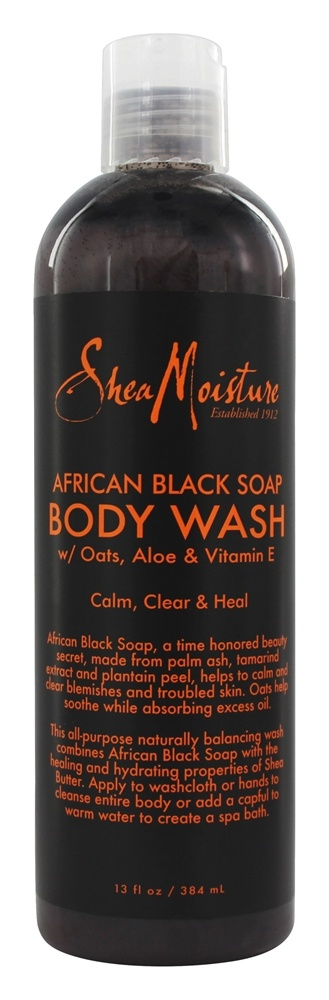 Shea Moisture - African Black Soap Body Wash - 13 oz.