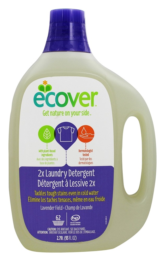 Ecover - Laundry Detergent 2X Concentrated 62 Loads Lavender Field - 93 oz.