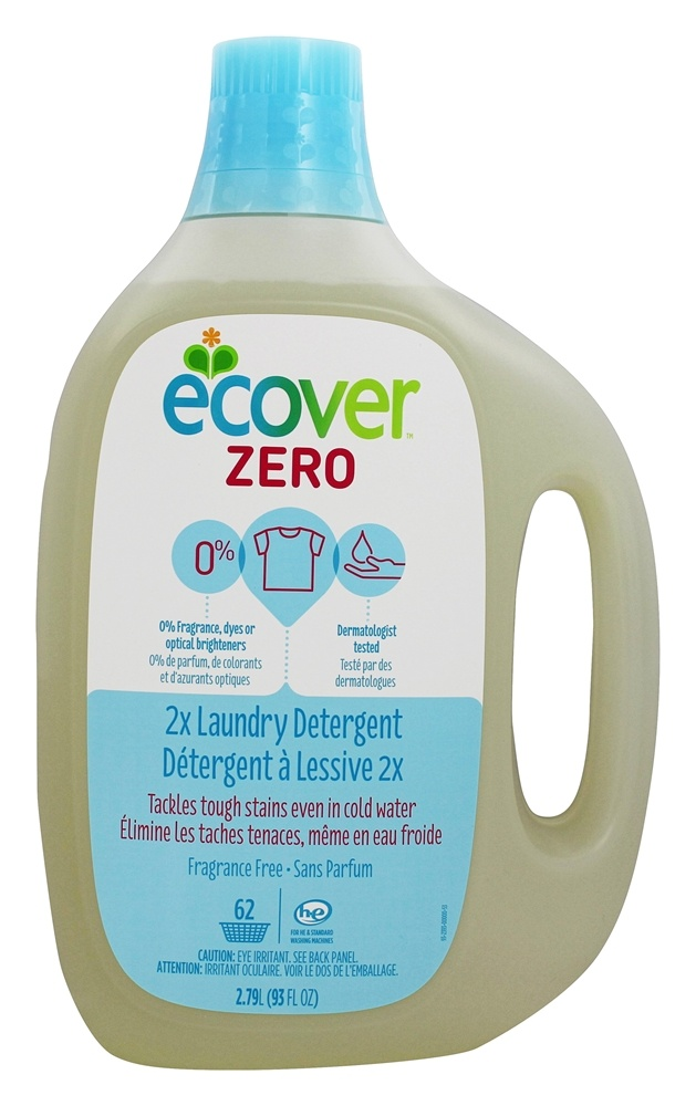 Ecover - Zero Laundry Detergent 2X Concentrated 62 Loads Unscented - 93 oz.