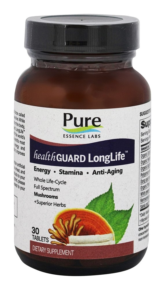 Pure Essence Labs - HealthGuard LongLife - 30 Tablets