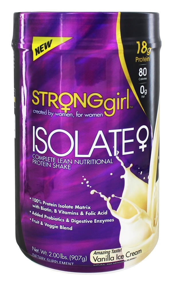 StrongGirl - Isolate Complete Lean Nutritional Protein Shake Vanilla Ice Cream - 2 lbs.