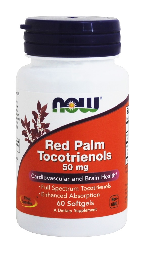 NOW Foods - Red Palm Tocotrienols 50 mg. - 60 Softgels