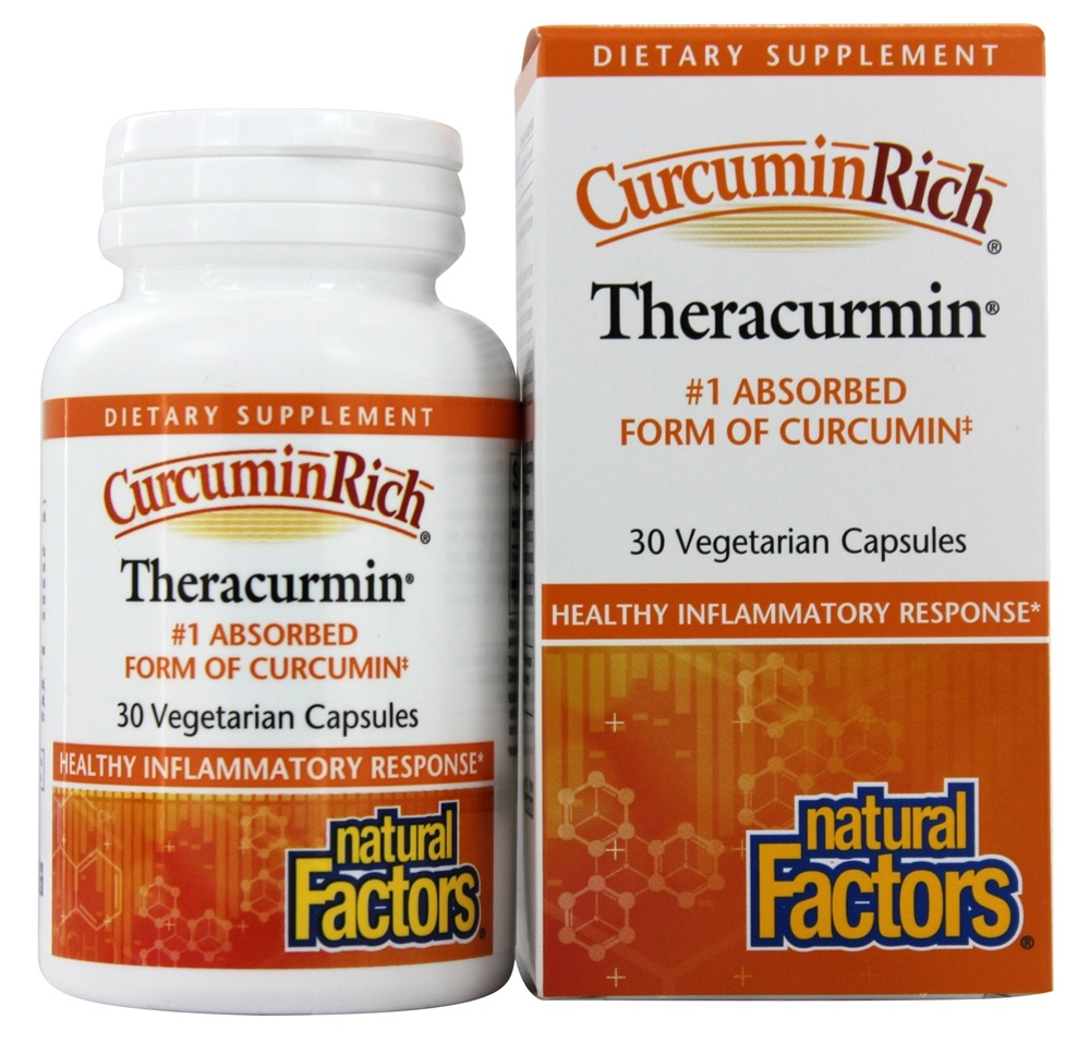Natural Factors - CurcuminRich Theracurmin 30 mg. - 30 Vegetarian Capsules