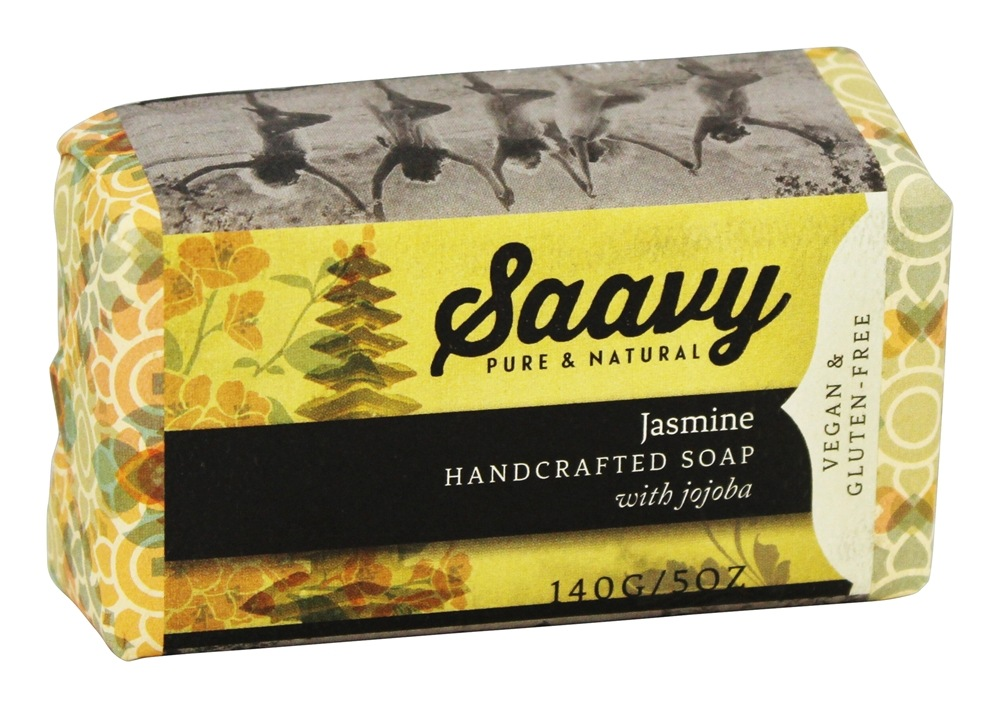Saavy Naturals - Handcrafted Soap with Jojoba Jasmine - 5 oz.