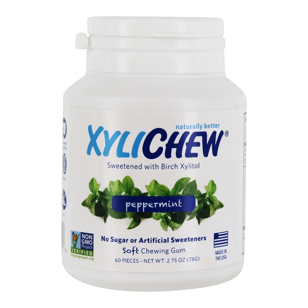 XyliChew - Sugar Free Soft Chewing Gum Peppermint - 60 Piece(s)