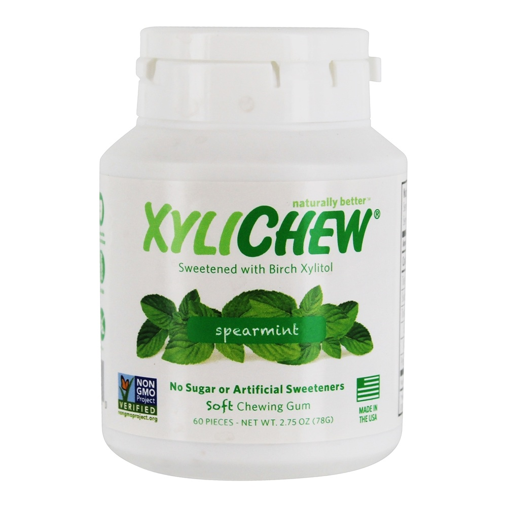 XyliChew - Sugar Free Soft Chewing Gum Spearmint - 60 Piece(s)