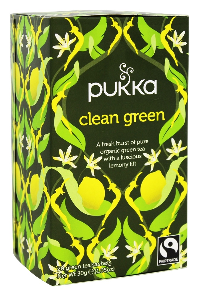 Pukka Herbs - Organic Herbal Tea Clean Green - 20 Tea Bags
