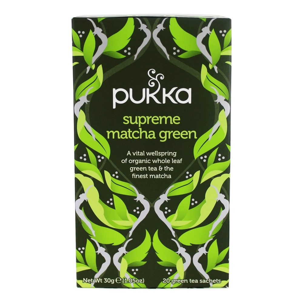 Pukka Herbs - Organic Herbal Tea Supreme Matcha Green - 20 Tea Bags