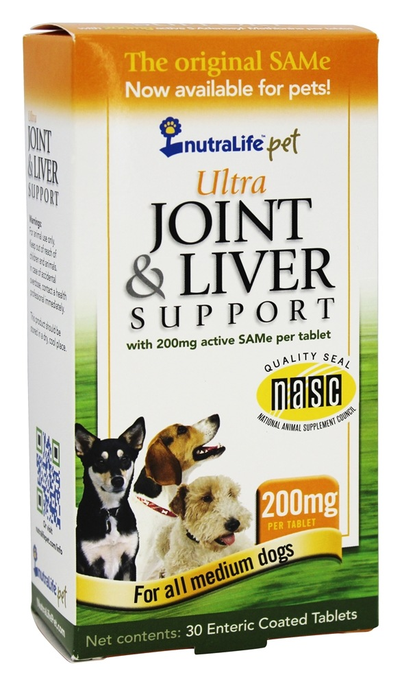 Nutralife - Ultra Joint & Liver Support for Medium Dogs 200 mg. - 30 Tablets