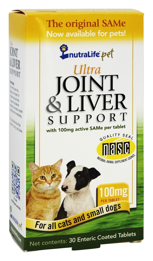 Nutralife - Ultra Joint & Liver Support for All Cats & Small Dogs 100 mg. - 30 Tablets