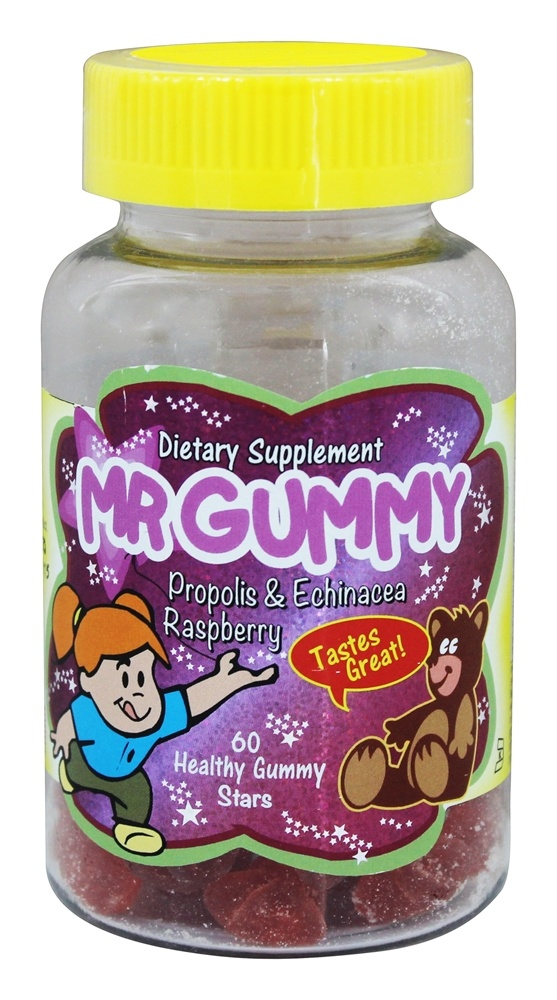 Mr. Gummy Vitamins - Propolis & Echinacea Raspberry Flavor - 60 Gummies