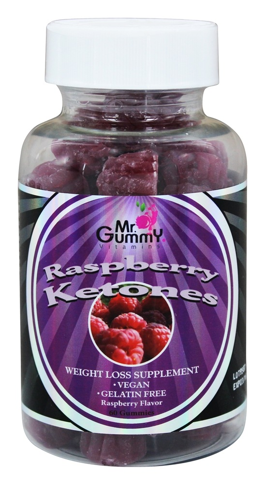 Mr. Gummy Vitamins - Raspberry Ketones Raspberry Flavor - 60 Gummies