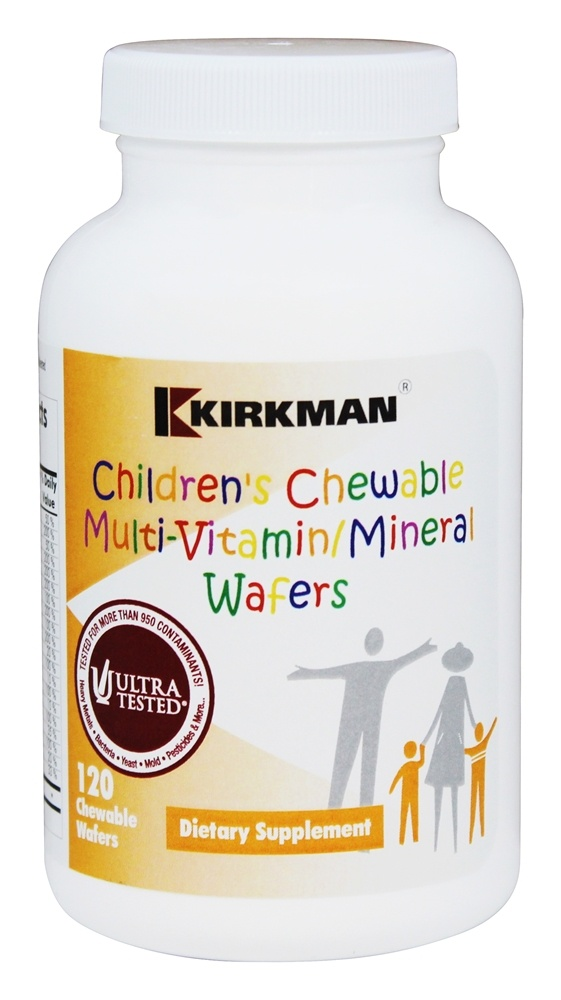Kirkman - Children's Chewable Multi-Vitamin/Mineral Wafers - 120 Chewable Wafers