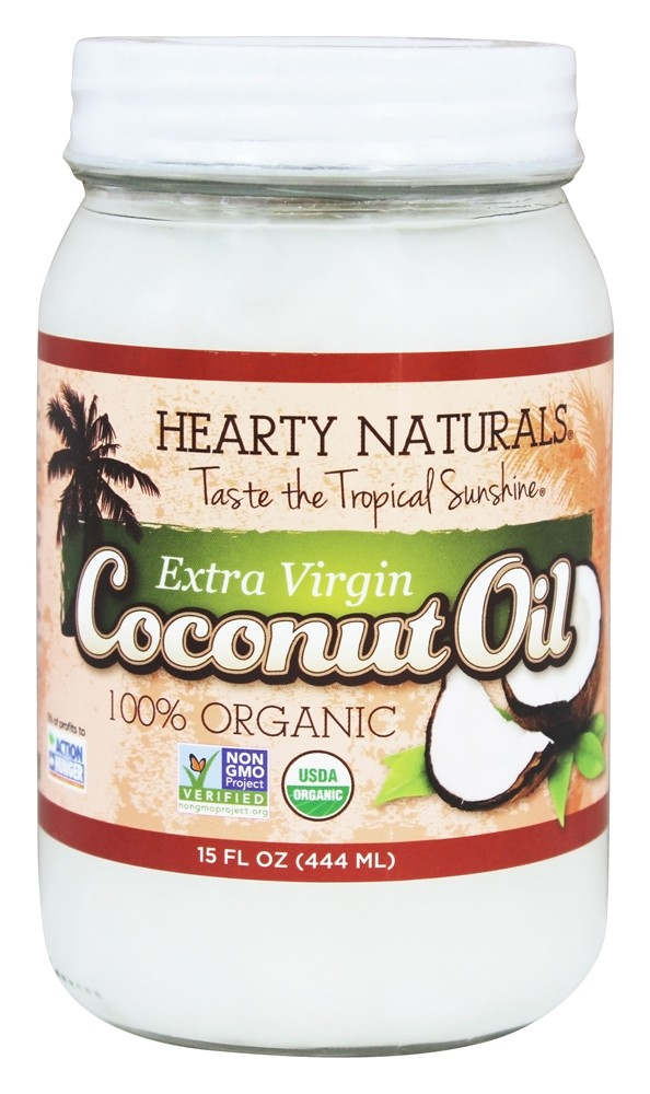 Hearty Naturals - 100% Organic Extra Virgin Coconut Oil - 15 oz.