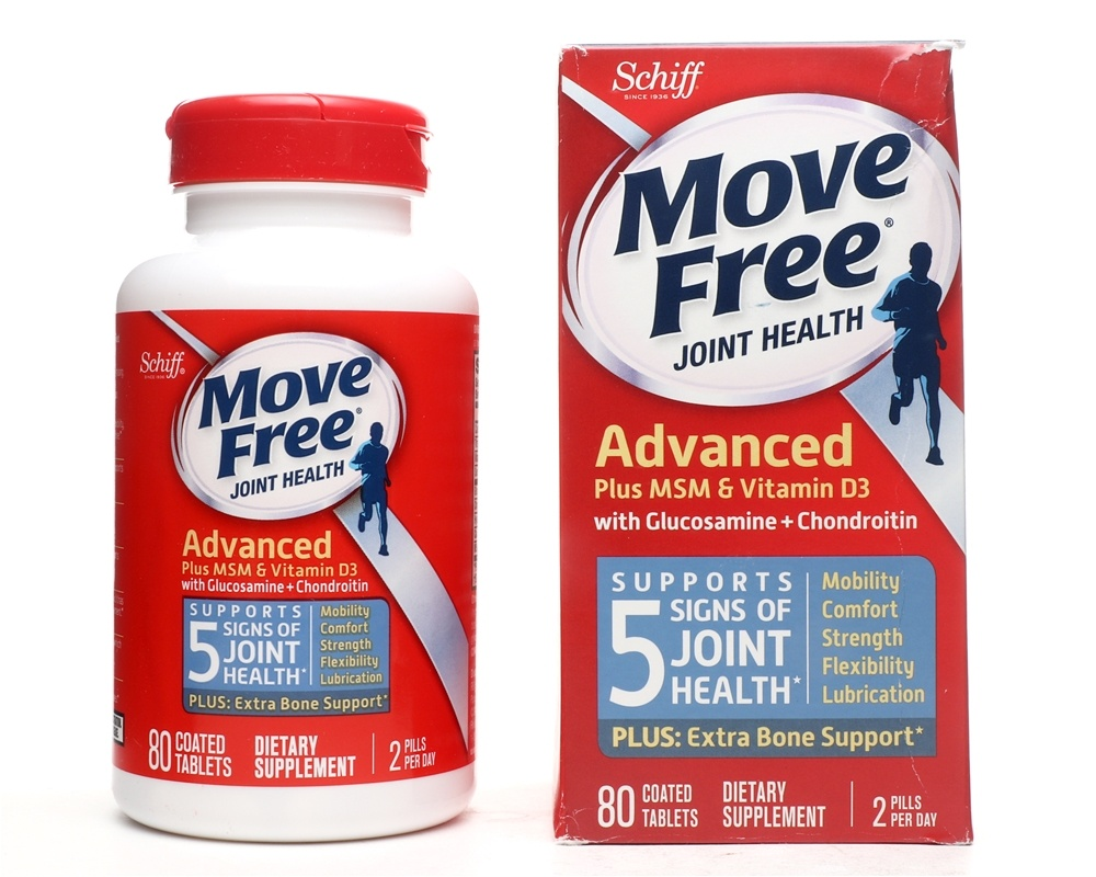 Schiff - Move Free Glucosamine Chondroitin Plus MSM & Vitamin D3 - 80 Coated Tablet(s)
