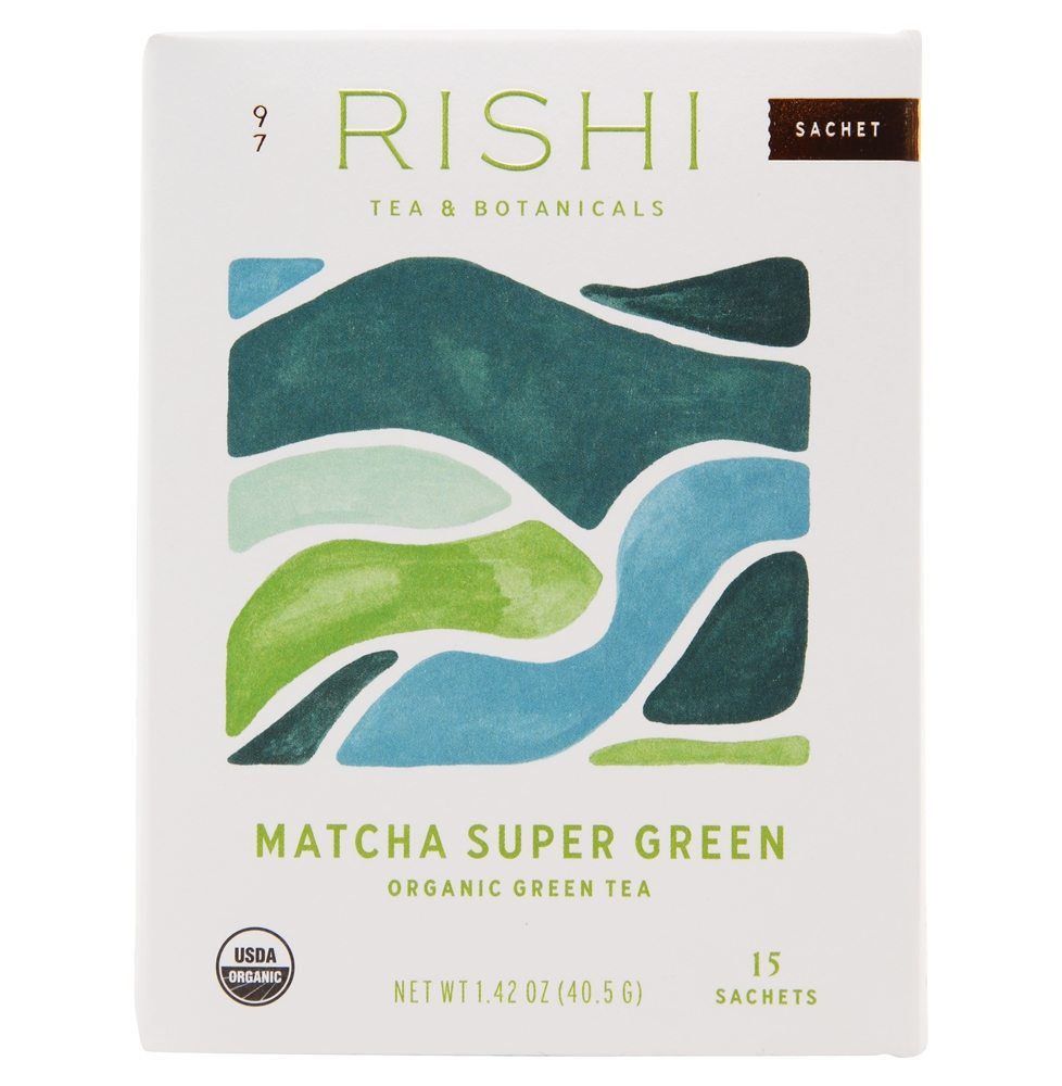 Rishi Tea - Organic Matcha Super Green Tea - 15 Tea Bags