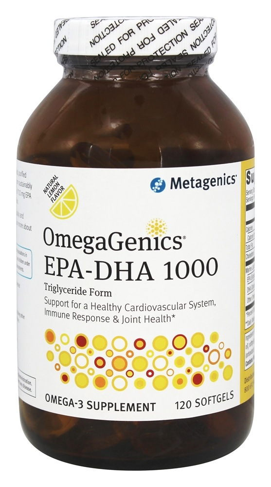 Metagenics - OmegaGenics EPA - DHA 1000 Natural Lemon Flavor - 120 Softgels