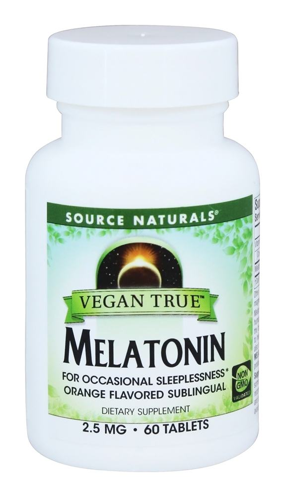 Source Naturals - Vegan True Melatonin Orange Flavored Sublingual 2.5 mg. - 60 Tablets