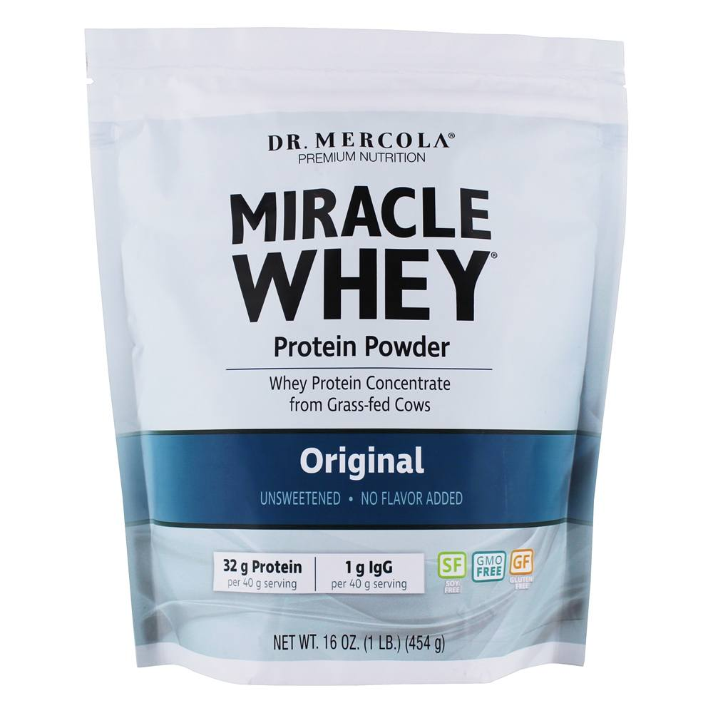 Dr. Mercola Premium Products - Miracle Whey Protein Powder Original - 1 lb.