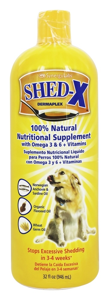 Synergy Labs - SHED-X Dermaplex Comprehensive Daily Nutritional Supplement For Dogs - 32 oz.