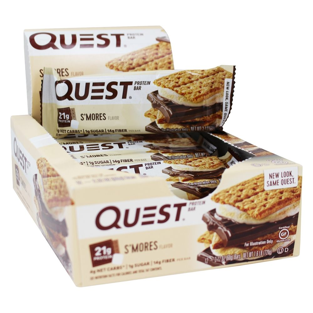 Quest Nutrition - Quest Bar Protein Bar S'Mores - 12 Bars