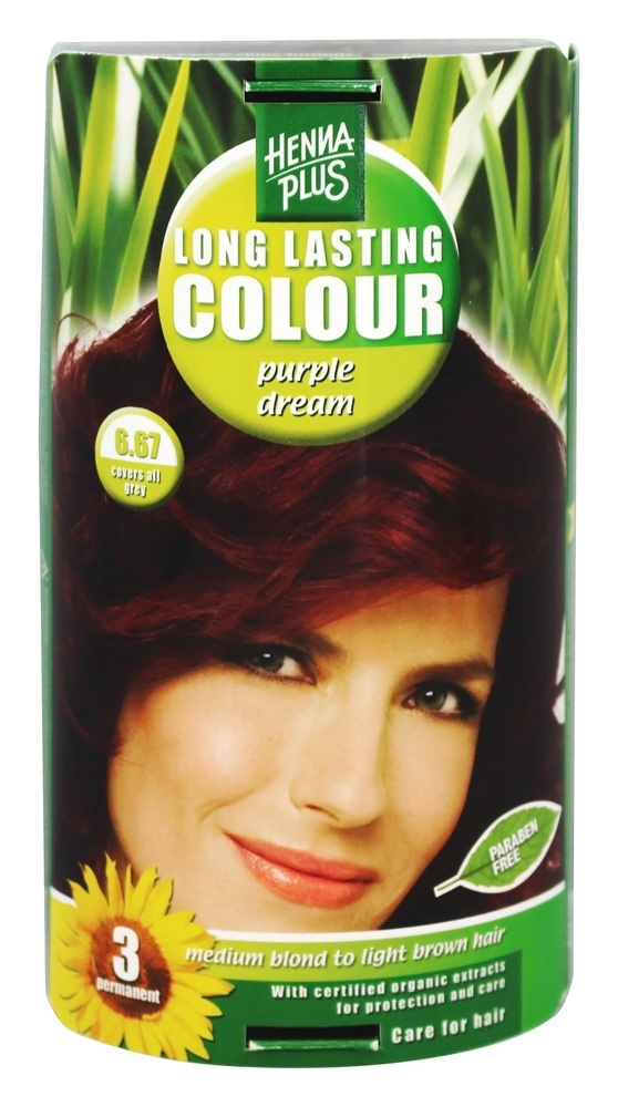 Henna Plus - Long Lasting Colour 6.67 Purple Dream - 3.5 oz.