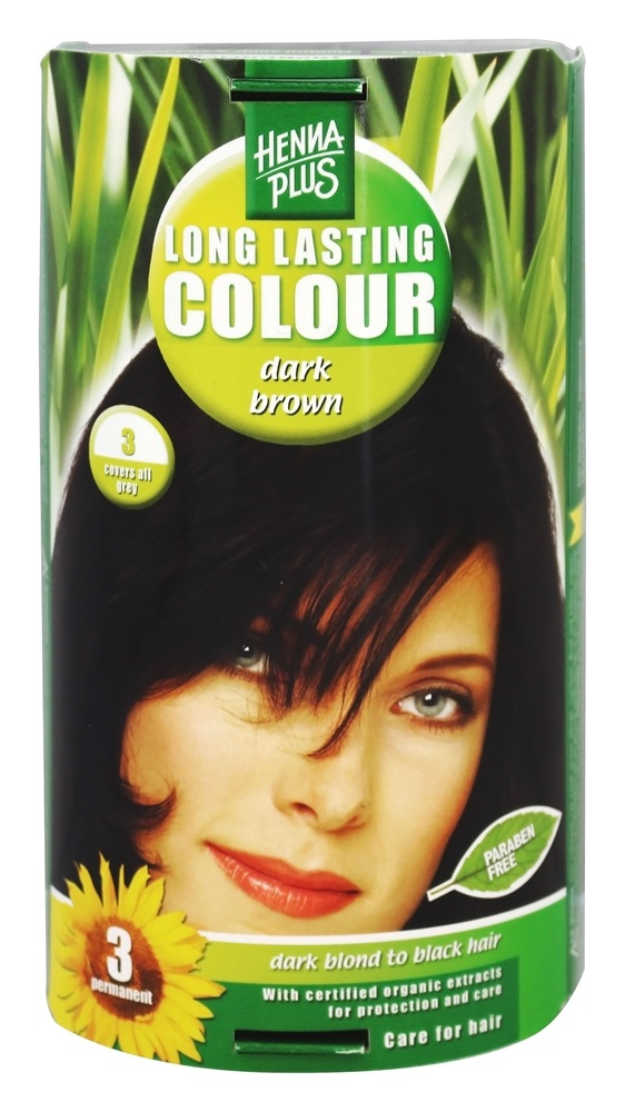 Henna Plus - Long Lasting Colour 3 Dark Brown - 3.5 oz.