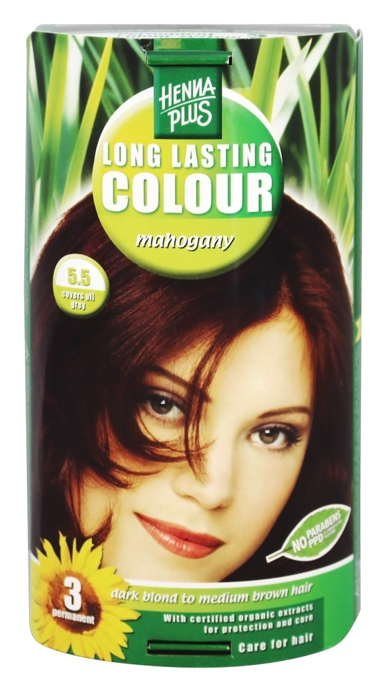 Henna Plus - Long Lasting Colour 5.5 Mahogany - 3.5 oz.