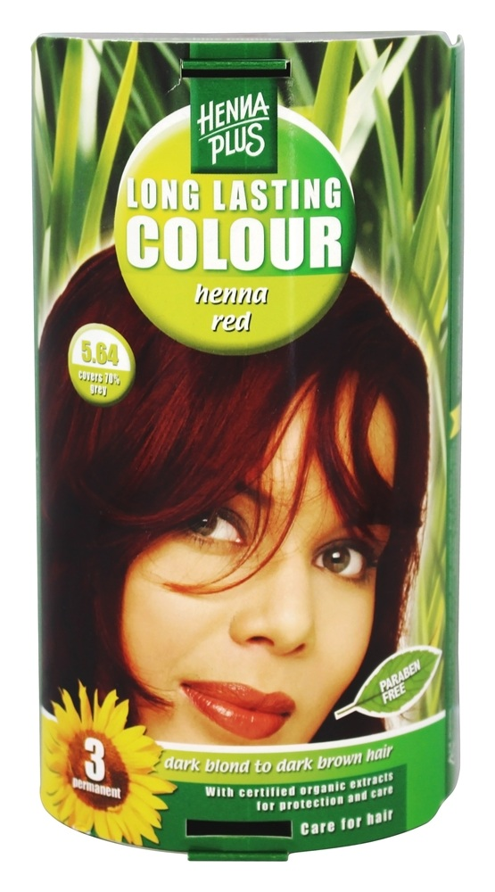 Henna Plus - Long Lasting Colour 5.64 Henna Red - 3.5 oz.