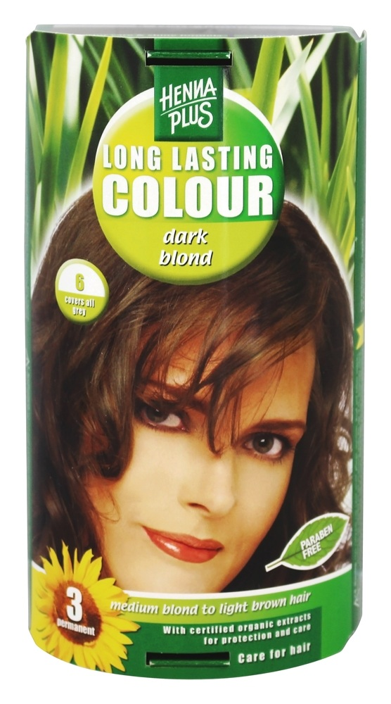 Henna Plus - Long Lasting Colour 6 Dark Blond - 3.5 oz.