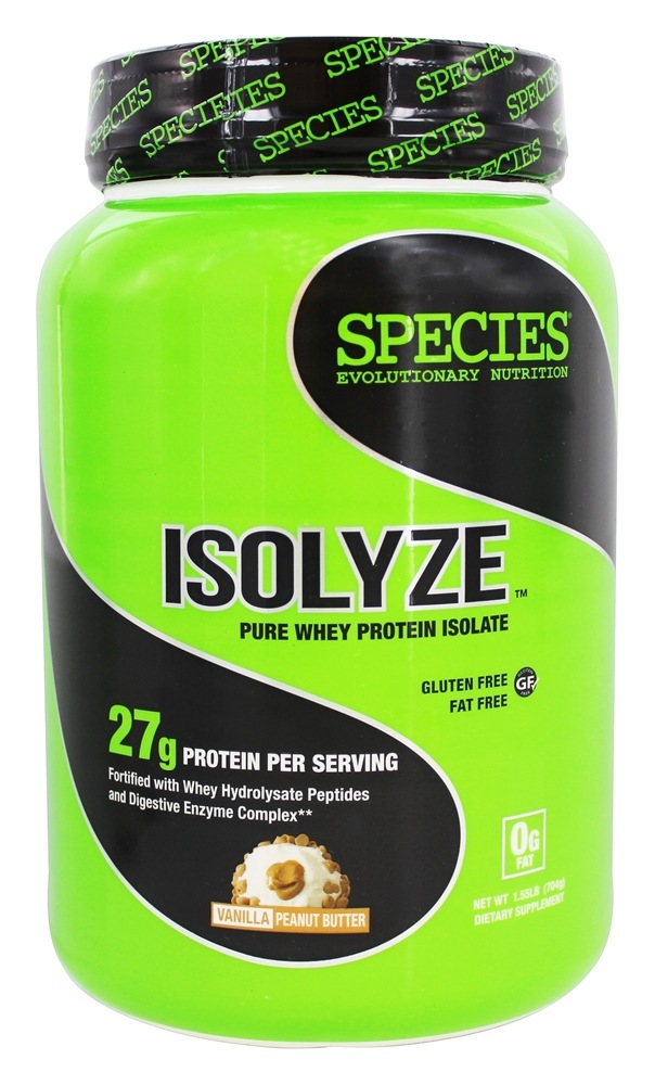 Species Nutrition - Isolyze Pure Whey Protein Isolate Vanilla Peanut Butter - 1.55 lb.