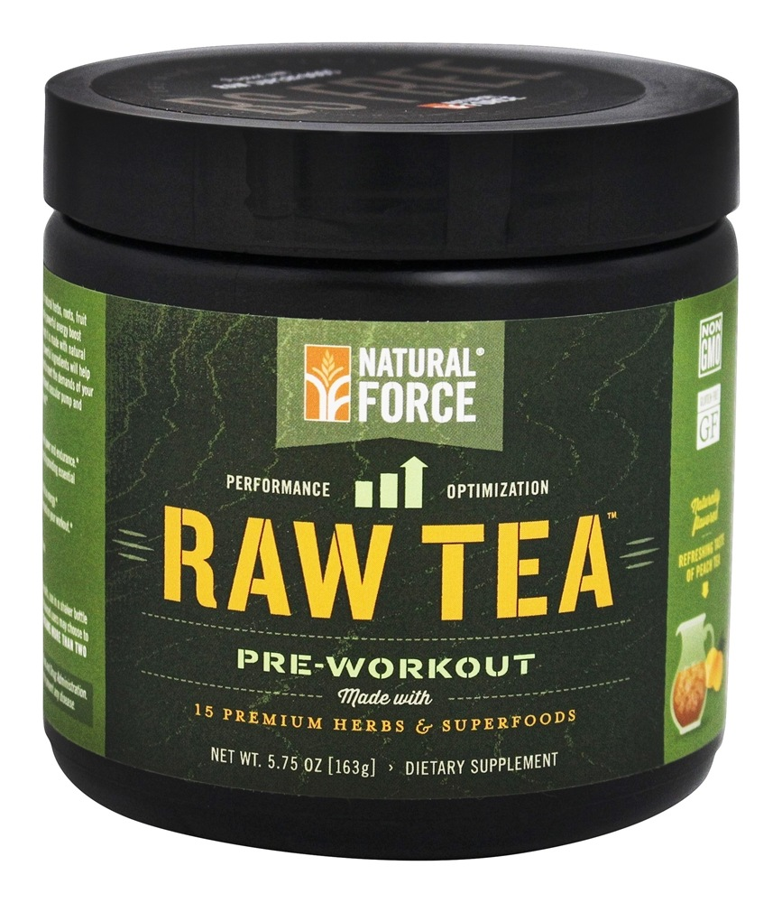 Natural Force - Raw Tea Pre-Workout Peach - 0.36 lb.