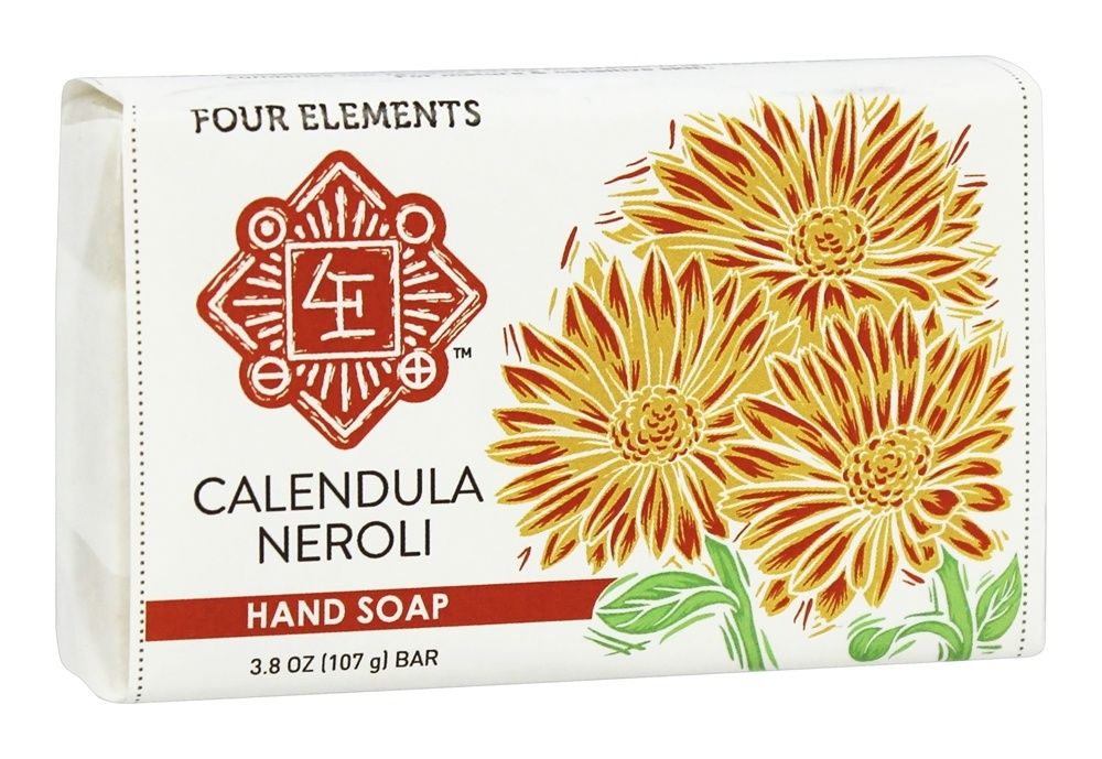 Four Elements Herbals - Premium Hand Soap Calendula Neroli - 3.8 oz.