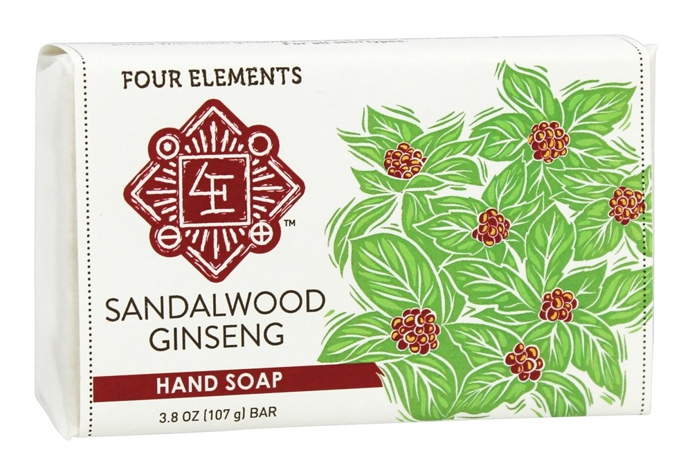 Four Elements Herbals - Premium Hand Soap Sandalwood Ginseng - 3.8 oz.