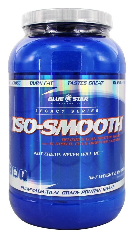 Blue Star Nutraceuticals - Iso-Smooth Pharmaceutical Grade Protein Shake Vanilla Dream - 2 lbs.
