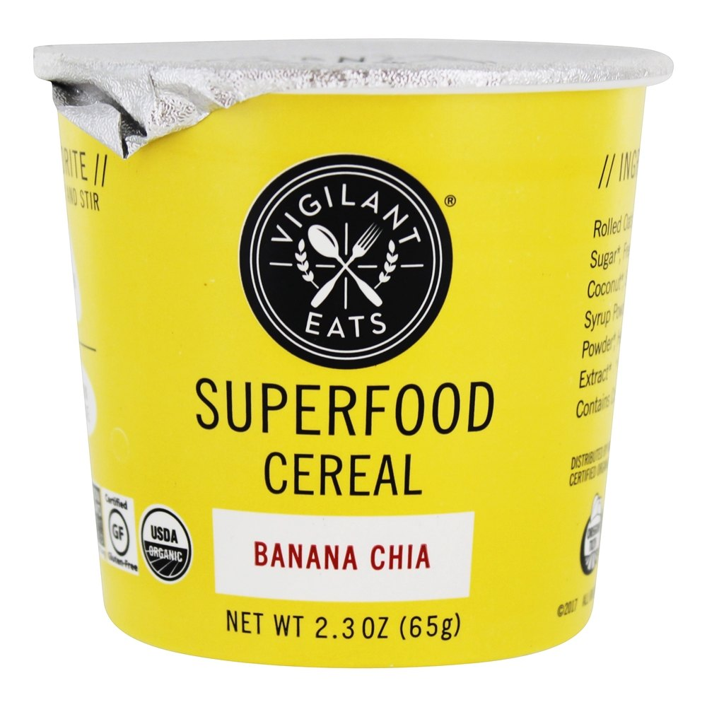 Vigilant Eats - Organic Superfood Oat-Based Cereal Banana Chia - 2.7 oz.