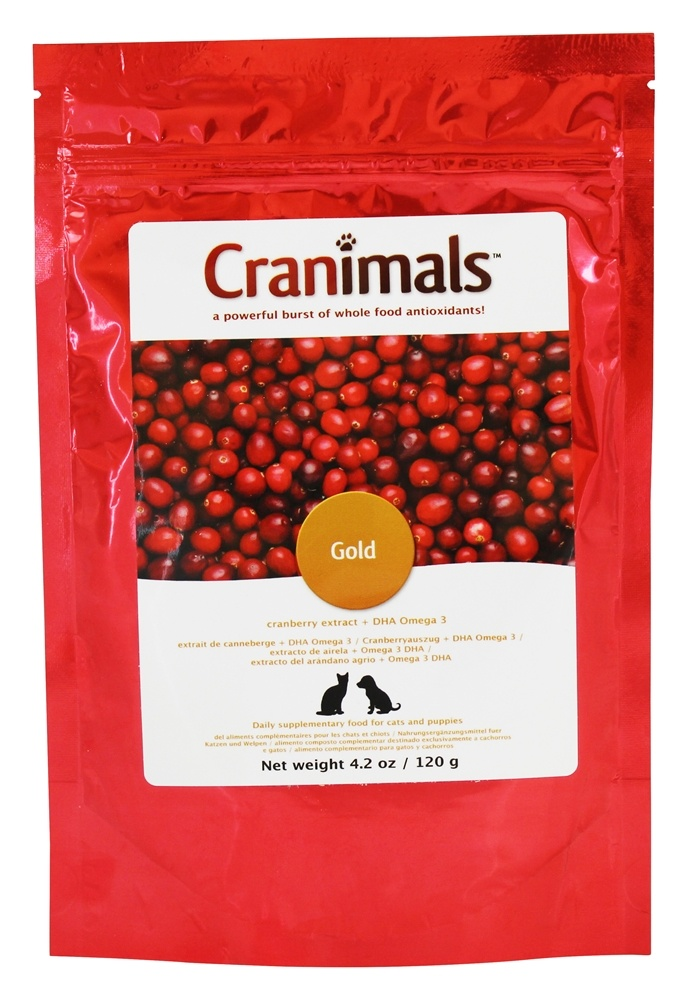 Cranimals - Organic Cranberry Extract Gold Pet Supplement - 4.2 oz.