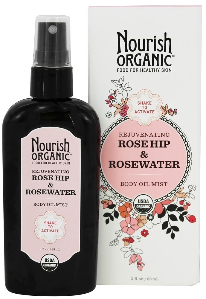 Nourish - Rejuvenating Rose Hip & Rosewater Body Oil Mist - 3 oz.