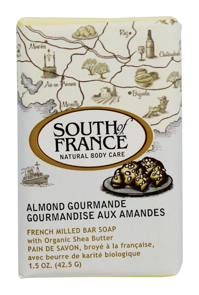 South of France - French Milled Vegetable Bar Soap Almond Gourmande - 1.5 oz.