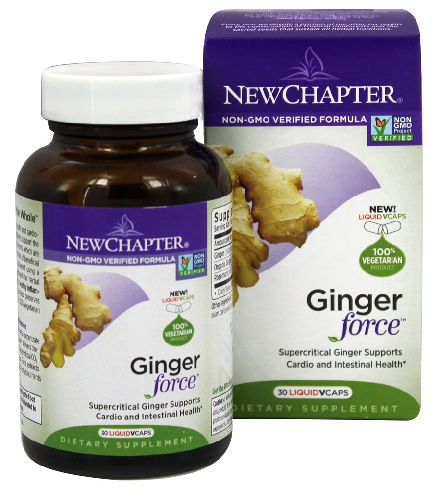 New Chapter - Ginger Force - 30 Vegetarian Capsules