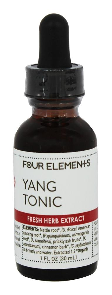 Four Elements Herbals - Fresh Herb Extract Tincture Yang Tonic - 1 oz.