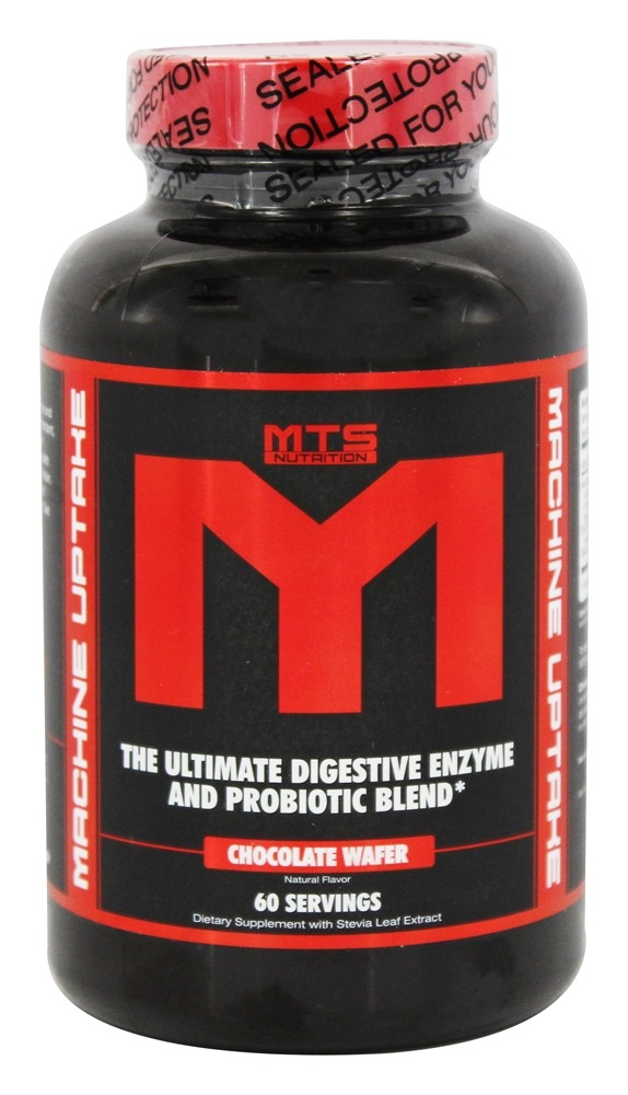 MTS Nutrition - Machine Uptake Digestive Enzyme & Probiotic Blend Chocolate Wafer - 60 Wafers