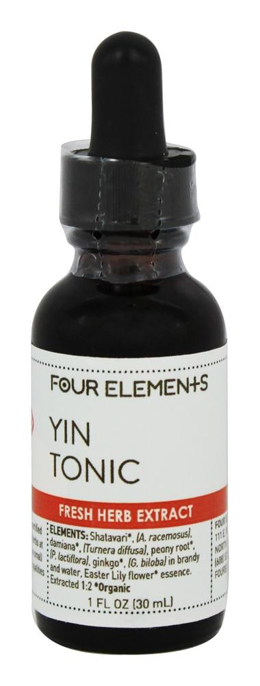 Four Elements Herbals - Fresh Herb Extract Tincture Yin Tonic - 1 oz.