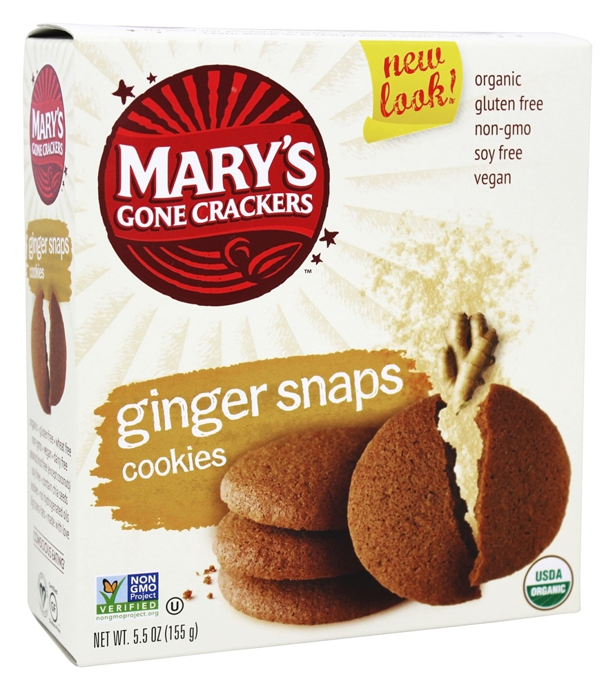 Mary's Gone Crackers - Organic Cookies Ginger Snaps - 5.5 oz.