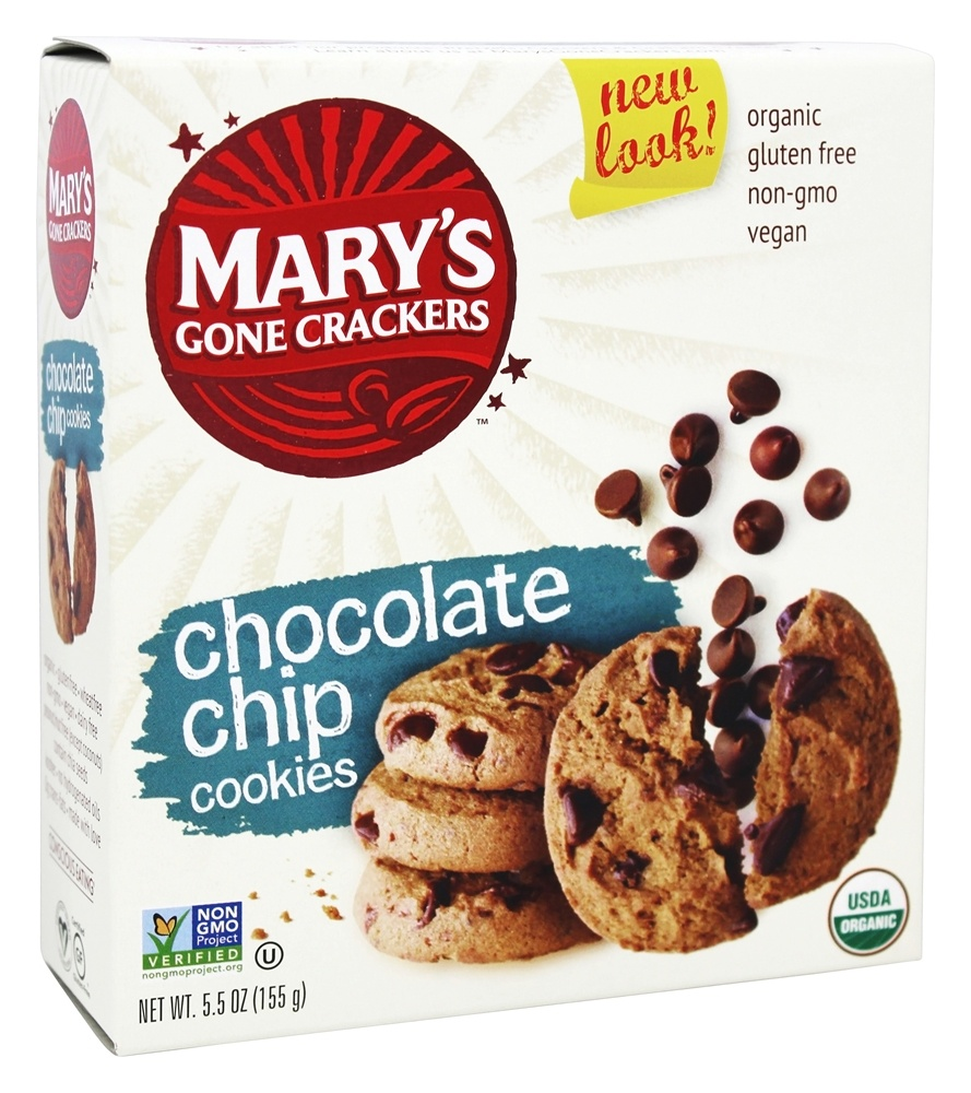 Mary's Gone Crackers - Organic Cookies Chocolate Chip - 5.5 oz.