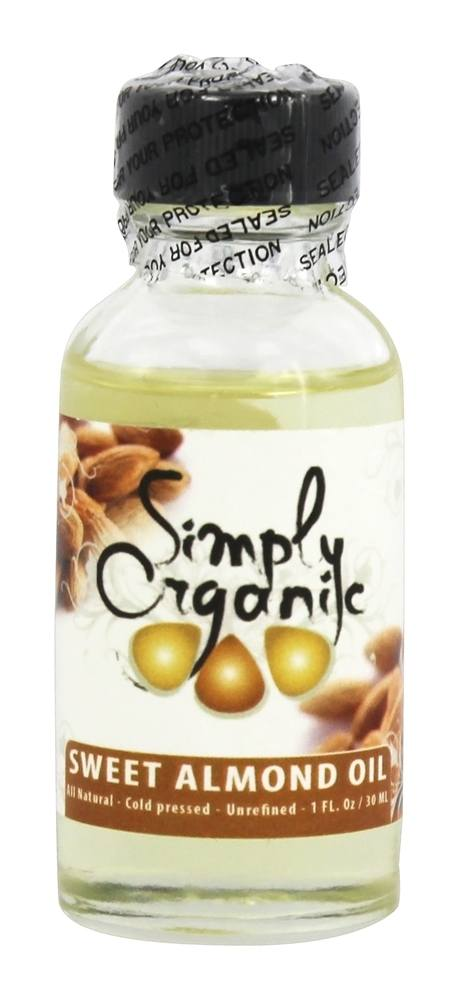 Simply Organic Oils - Organic Sweet Almond Oil - 1 oz.