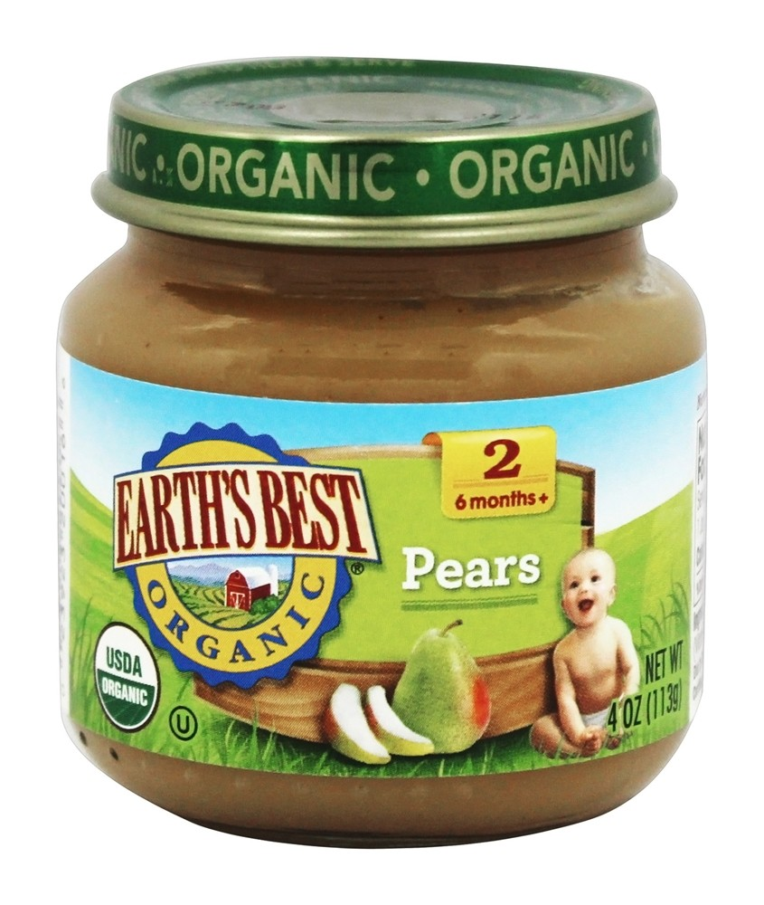 Earth's Best - Organic Baby Food Stage 2 Pears - 4 oz.