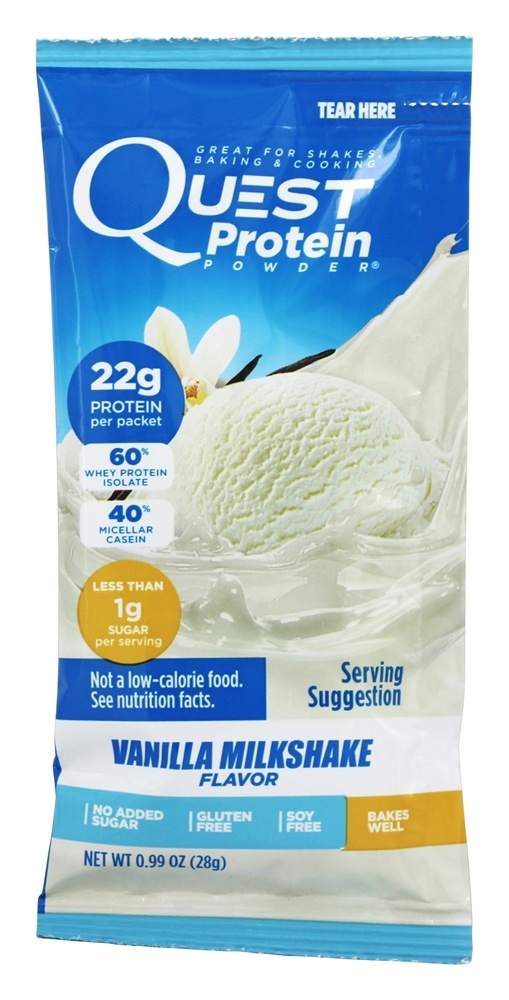 Quest Nutrition - Quest Protein Powder Vanilla Milkshake - 0.99 oz.