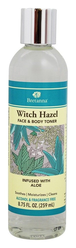 Bretanna - Witch Hazel Face & Body Toner Infused with Aloe - 8.75 oz.